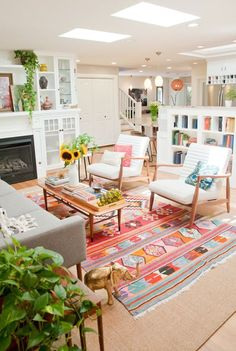 Home Interior Living Room .Home Interior Living Room Retro Living Rooms, Design Living Room, Living Room Interior, Home Living Room, Kitchen Living, Bright Living Room Decor, Barn Living, Cozy Living, Small Living