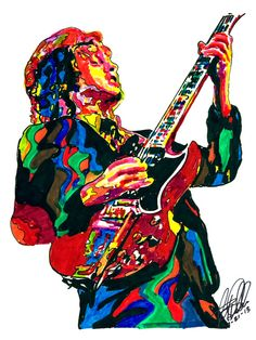 Angus Young Ac/Dc Guitar Player Hard RockGuitarist by thesent