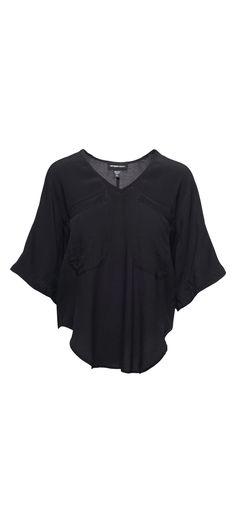 Fifteen Twenty Kimono Sleeve Shirttail Top in Black / Manage Products / Catalog…
