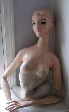 vintage rubber mannequin
