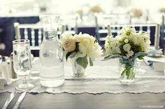 mywedding ideas. I found, I love, I'm pinning. #myweddingwhims Simple and elegant for a shower or wedding reception