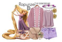 """Rapunzel"" by leslieakay ❤ liked on Polyvore featuring Kenneth Jay Lane, RVCA, Steve Madden, Vigoss, Yoki, disney, disneybound and disneycharacter"