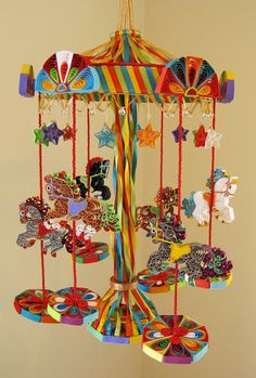 Carousel Crib Mobile Merry Go Round Mobile Cot by tsipouritsa