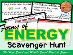 Energy Scavenger Hunt by The Trendy Science Teacher | Teachers Pay Teachers
