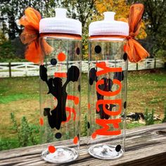 Personalized Cheerleader Water Bottle by SouthernSavvyDesigns