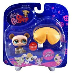 """Hasbro Year 2007 Littlest Pet Shop Portable Pets """"Littlest"""" Series Collectible Bobble Head Pet Figure Set #645 - Fuzzy Brown Panda Bear with Fortune Cookie (65318) by Hasbro. $10.99. Produced in year 2007. Includes: Fuzzy Brown Panda Bear with Fortune Cookie (65318). For age 4 and up. You've just welcomed a new friend into your very own Littlest Pet Shop where there are fun adventures around every corner... and lots of new pets to love!"""