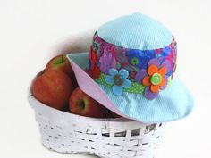 Summer Cotton Hat  Fresh Cheerful Hat Ready to Sheep by MoonyDolls, €45.00