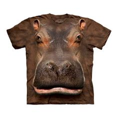 Hippo Head T-Shirt Adult now featured on Fab. Hahaha! Ugly but necessary for a hippo lover like myself! So It's really ugly, but I love hippo's!