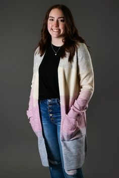 Colorblock Open Midi Cardi Trendy Outfits, Cute Outfits, Fashion Outfits, Womens Fashion, Trendy Tops For Women, Cute Boutiques, Affordable Clothes, Boyfriend Jeans, Casual Looks