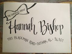 Hand Addressed Envelopes with Bow Banner by JLHowardDesigns