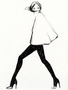 fashion illustration - Oranenco Designs Inc - for those days of fashion strike. Timeless - illustration by Garance Doré Mode Collage, Street Art, Street Style, Drawn Art, Illustration Mode, Photo Illustration, Fashion Art, Fashion Design, Fashion Models