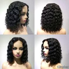 Lace Wig Black Wigs Natural Color African American Short Wigs Under 35 – Aeshaper® Short Pixie Wigs, Curly Bob Wigs, Curly Bob Sew In, Long Wigs, Human Lace Wigs, Human Wigs, Short Bob Hairstyles, Wig Hairstyles, Kids Hairstyle
