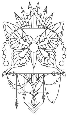 Long believed to contain magical properties ensuring good luck for the possessor, this beautifully draping butterfly talisman can adorn your wardrobe, decor, and more! Downloads as a PDF. Use pattern transfer paper to trace design for hand-stitching.