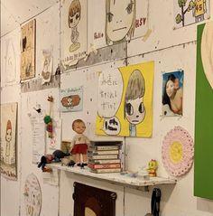 Yoshitomo Nara, Funky Art, Museum Of Contemporary Art, Drawing Tips, Drawing Room, Love Design, Peace And Love, Gallery Wall, Artsy