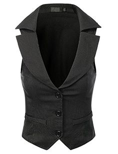 Doublju Women Stripe Collar Stretchy Fabric Basic Dressy Vest Black Medium Doublju http://www.amazon.com/dp/B00LFIR5AE/ref=cm_sw_r_pi_dp_v3O9tb1XVEDPS