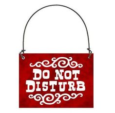 DECO MINI SIGN DO NOT DISTURB Fits over Door Knob Plaque Wood Red DecoWords USA #DecorativeGreetingsInc