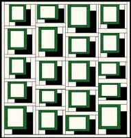 general layout for a floating block T-shirt quilt