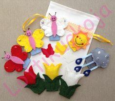 A három pillangó ujjbábkészlet, Játék, Baba-mama-gyerek, Báb, Készségfejlesztő játék, Meska