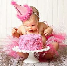 """This gorgeous """"Pretty in Pink"""" first birthday party hosted and styled by Jamielyn of I {heart} Nap Time certainly """"takes the cake"""" when it"""