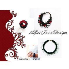 AlfieriJewelDesign by cozeequilts on Polyvore featuring moda