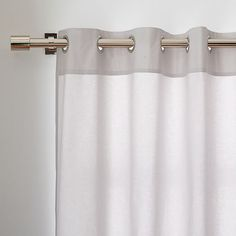 Cotton Canvas Grommet Curtain - Frost Gray | west elm