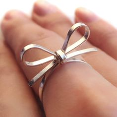 Skinny Sterling Silver Forget Me Knot Bow Tie by PaupersBounty, $19.00