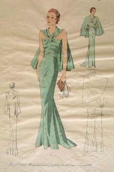 New EvaDress 744   Created from original 1930's pattern artwork that was never produced   $20 online                                                                                                                                                                                 More