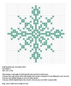 Snowflake 1, designed by @Kelly Teske Goldsworthy Ingram Smurthwaite from Kincavel Krosses.