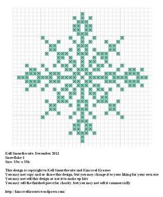 Snowflake 1, designed by @Kelly Teske Goldsworthy Teske Goldsworthy Ingram Smurthwaite from Kincavel Krosses.