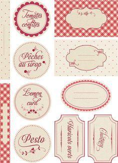 FREE printable canning jar tags and labels Printable Labels, Printable Paper, Free Printables, Jam Label, Etiquette Vintage, Canning Labels, Gift Card Giveaway, Vintage Labels, Web Design