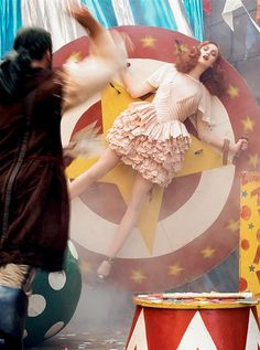{Oh, So Darling}: Circus-Inspired Fashion Editorial - Karen Elson for Vogue Italy 2007 by Steven Meisel