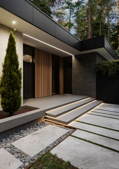 Design Your Dream House, Small House Design, Modern House Design, Modern Entrance, House Entrance, Facade Design, Exterior Design, Villa Design, Architecture Design