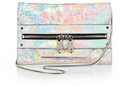 MILLY Tatum Textured Hologram Convertible Clutch on shopstyle.com