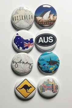 Australia Flair by aflairforbuttons on Etsy