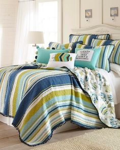 Multi-Stripe Finely Stitched Quilt Collection, Main View