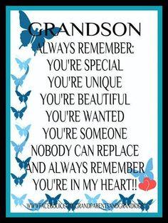 Proud of Grandson Quotes | via karen waters