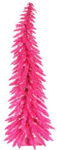 Whimsical 4' Pink Spruce Artificial Christmas Tree