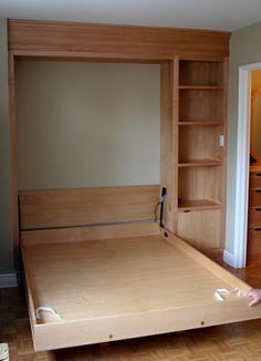 Custom Murphy bed open