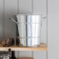 Compost Bucket 3.5 Litre - Galvanised - Natural Collection Select