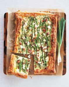 Asparagus bacon and goat cheese tart