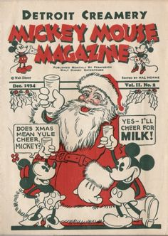 Detroit Creamery Mickey Mouse Magazine, December 1934