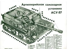 57 mm ASU-57 Soviet airborne SPG 1950s Military Modelling, Armored Vehicles, Human Resources, Army, Military Equipment, Cutaway, Military Vehicles, Weapons, Military History