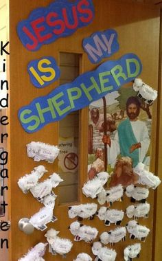Jesus is my shepherd | Classroom Door