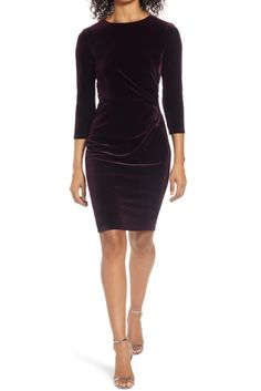 A flattering gathered waist and rich velvet make this simple sheath a perfect choice for Christmas dinner. It also comes in navy and hunter green. #holidaydresses #holidayparty #christmasoutfits #womensfashion #christmas #southernliving Christmas Dress Women, Holiday Dresses, Sheath Dress, Bodycon Dress, Nordstrom Gifts, Petite Size, Nordstrom Dresses, Fit Women, Dress Up