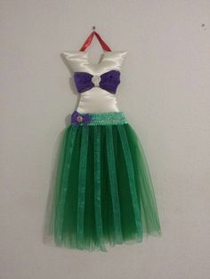 Little Mermaid Ariel Custom Hair Bow Tutu Holder by JennyBugs3