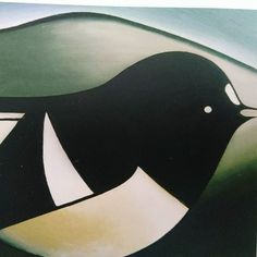 Don Binney's Fat Bird oil on board 1965 590 x of Binney's iconic bird works are in public collections forming part of New Zealand's canon of art. Fat Bird, New Zealand, Canon, Public, Collections, Oil, Board, Beautiful, Design