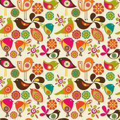 Little Birds by valentinaramos, click to purchase fabric