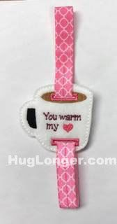 ITH Coffee Tea Cup Bookmark Slide HL2014 embroidery file by HugLonger on Etsy
