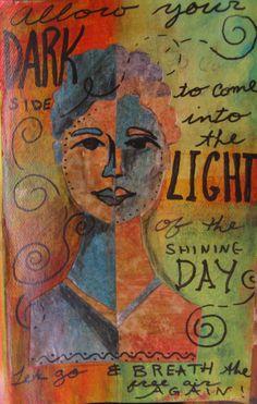 Positively Negative Art Journal Page from http://paintonmywalls.blogspot.com/
