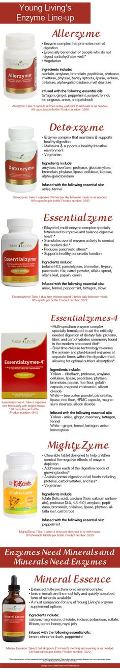 Learn more about Young Living's enzyme supplements